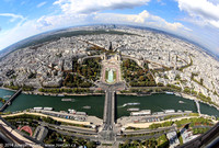 180 degree view of the Seine River, Palais de Chaillot & Jardins du Trocadero