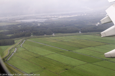 Farmland - final approach to Schiphol airport
