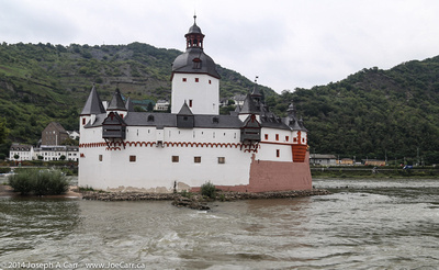 Burg Pfalzgrafenstein, a castle in the middle of the Rhine River