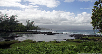 Shoreline along Kalanianaole Ave