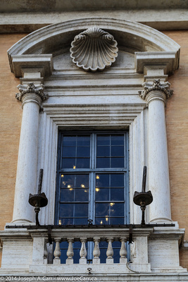 Window detail in the Musei Capitolini