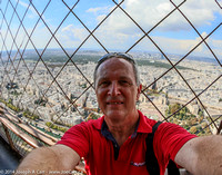 Joe on the top deck of the Eiffel Tower