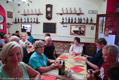 Group dinner at Trattoria Nella