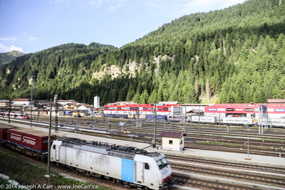 Rail yard at Brenner Pass