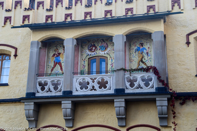 Ornate balconies on Hohenschwangau Castle