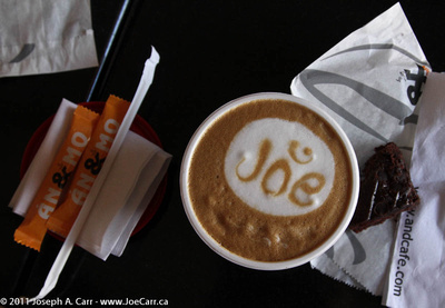 Personalized cappuccino at AndCafe.com