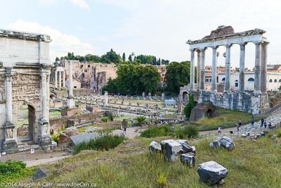 Septimius Severus Arch, Roman Forum and Temple of Saturn