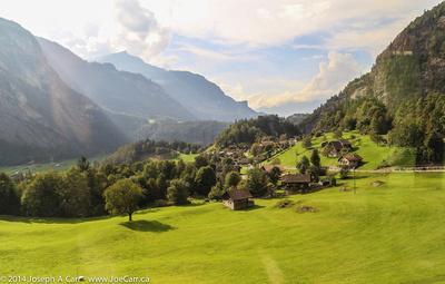 Village in the valley bottom
