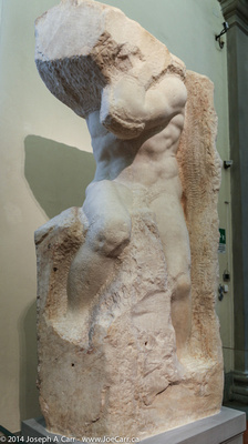 """""""Atlas Slave"""" - one of Michelangelo's incomplete statues"""