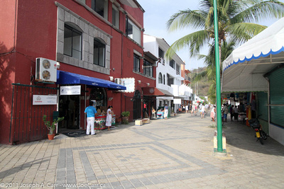 Shops in tourist mall