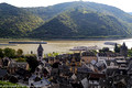 Bacharach and boat traffic on the Rhine River