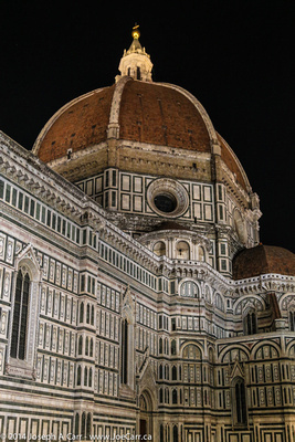 Duomo dome and side at night