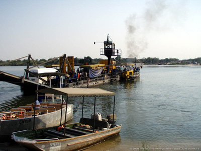Kazungula ferry at Kasane