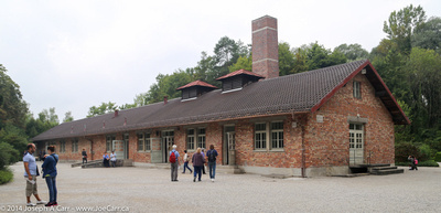 The second, modern crematorium and gas chambers
