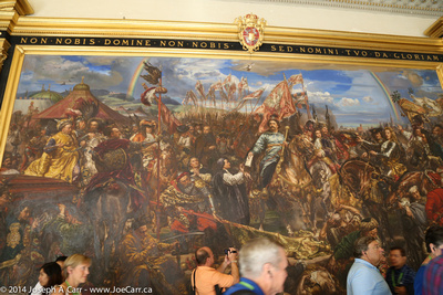 Painting: The Polish king Jan Sobieski III stopped the Ottomans at the gates of Vienna