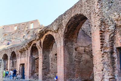 Roman arches made of bricks