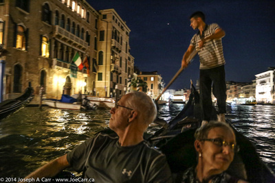 Jim and Sandy on thh Grande Canal with our gondolier