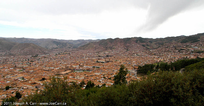 Looking South over Old Cusco from a highway lookout