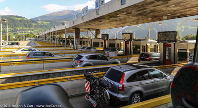Toll stations on the autostrada