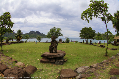 Stone statue in a park