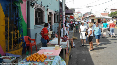 Vendors & tourists on main street