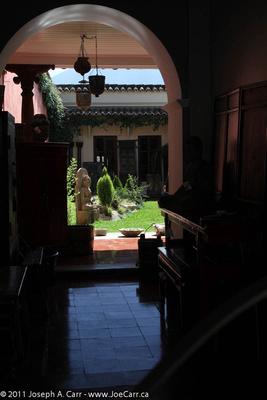 Courtyard inside entranceway