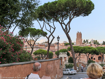 View of the ancient city from the Piazza del Campidoglio