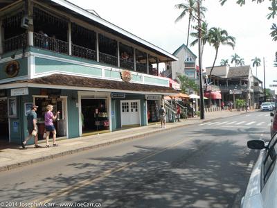Lahaina's main street
