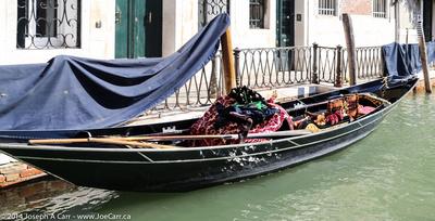 Gondola with ornate seats