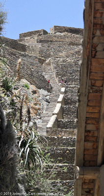 Steps beside the main entrance terraces
