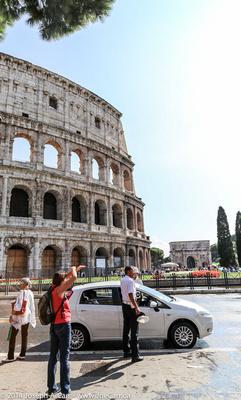 The Colliseum and the Arch of Titus
