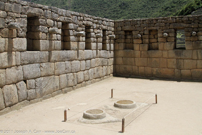 Incan observatory possibly equipped with 2 mirror vessels