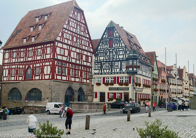 Medieval buildings beside the main square