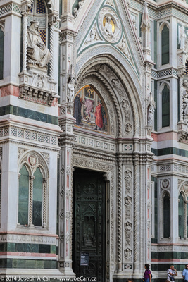 Decorated entrance to the Duomo