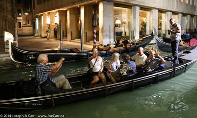 Our tour group aboard one gondola