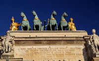 Equine statutory on top of the Arc de Triomphe du Carrousel
