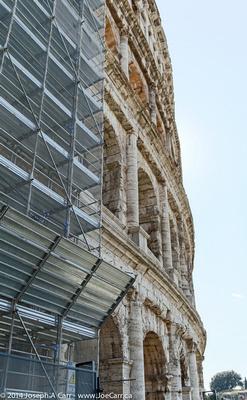 The Colliseum being restored
