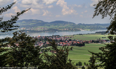 Looking out over the valley and the Forggensee from the castle
