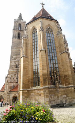 The church tower and outside of the main sanctuary