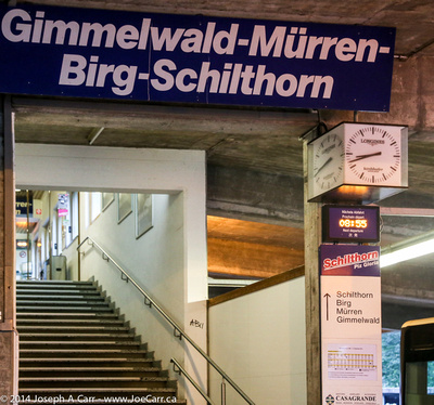 Interior of gondola base station for Schilthorn