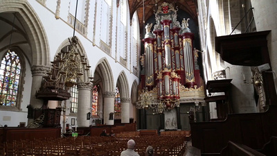 Organ being played