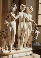 """""""Les Trois Grâces"""" - The Three Graces - ancient Roman sculpture"""