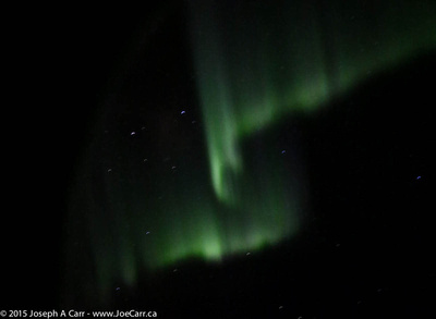 Aurora out the aircraft window