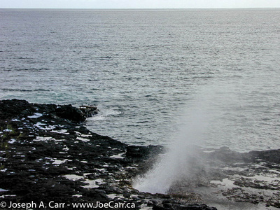 Blow hole at Spouting Horn Park