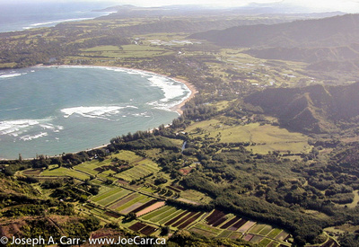 Flying over Hanalei Bay