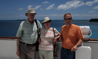 John, Wendy & Joe on Deck 6 Forward