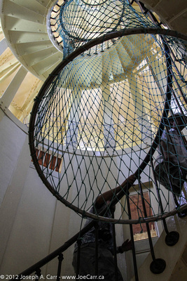 Interior staircase to the top of the lighthouse