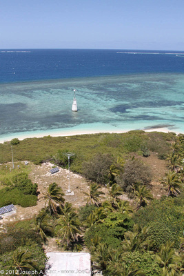 View of the lagoon from the top of the lighthouse