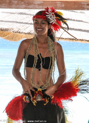 South Pacific folkloric dancers & music