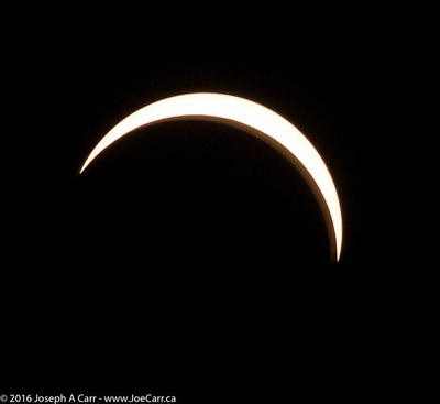 Partially eclipsed Sun between 3nd & 4th Contact